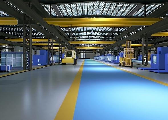 工业厂房装修效果图案例图片欣赏