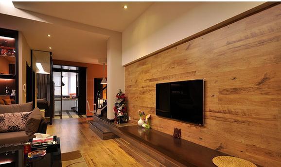 木质板材墙面装修效果图