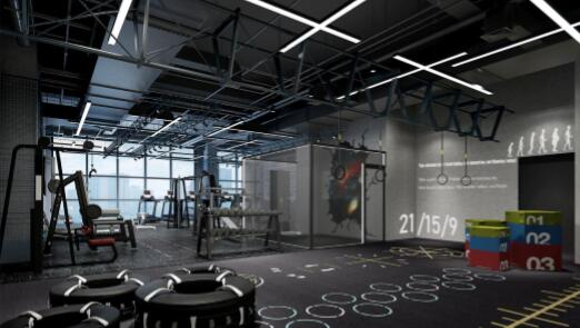 猎豹健身房装修效果图