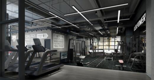 猎豹健健身房装修案例,效果图效果图